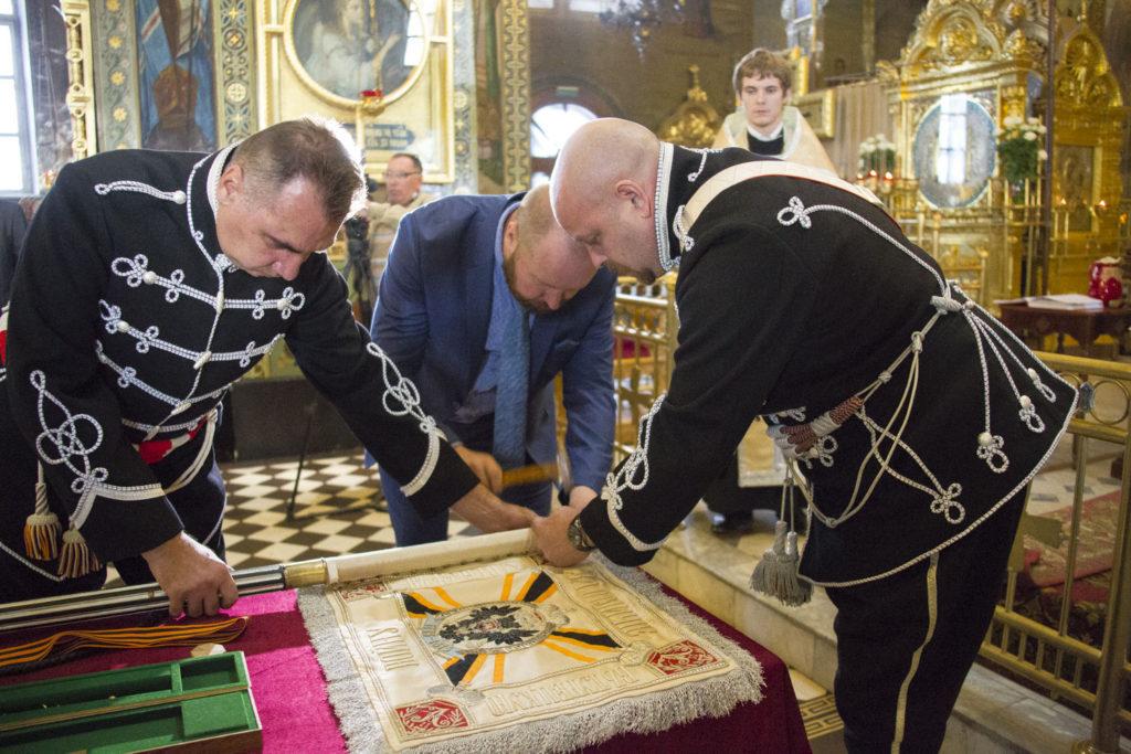 освящение штандарта александрийского полка